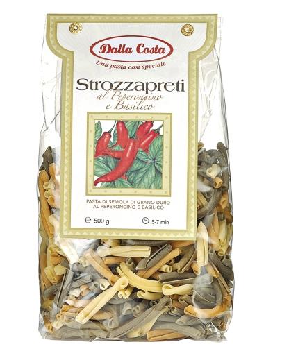 Strozzapreti al Peperoncino e Basilico Tricolori 500g