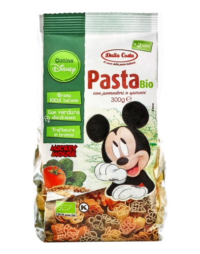 Mickey & Co - Pasta tricolori BIO 300g